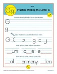 Handwriting Practice Sheet - Letter G