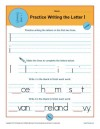 Practice Writing the Letter I