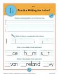 Handwriting Practice Sheet - Letter I