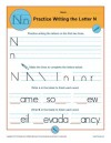 Practice Writing the Letter N