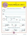 Practice Writing the Letter O