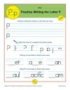 Practice Writing the Letter P