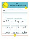 Practice Writing the Letter Q