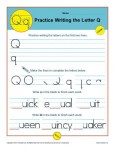 Handwriting Practice Worksheet - Letter Q
