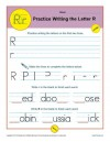 Practice Writing the Letter R