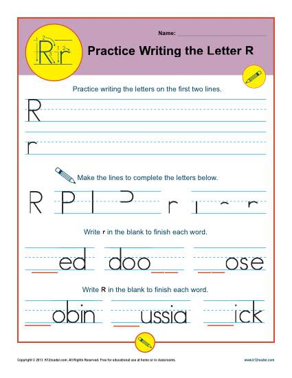 Letter R Worksheets | Printable Handwriting Worksheet