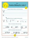 Practice Writing the Letter V