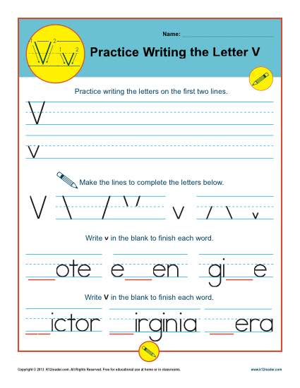 graphic about Letter V Printable referred to as Letter V Worksheets Printable Handwriting Worksheet
