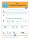 Practice Writing the Letter X