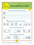 Handwriting Practice Worksheet - The Letter A