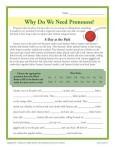 Printable Pronoun Activity - Why Do We Need Pronouns?