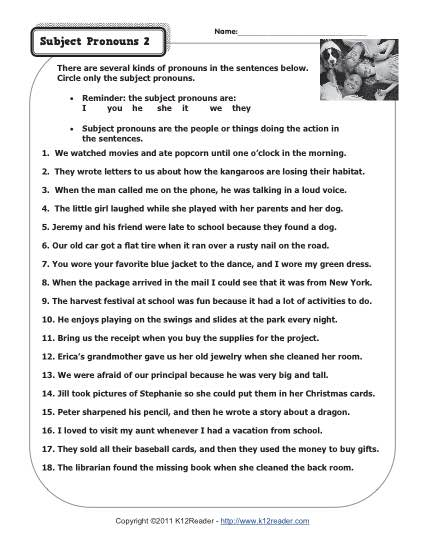 Quiz &amp- Worksheet - Types of Pronouns | Study.com