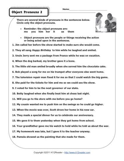 Object Pronouns 2 | Pronoun Worksheets