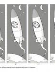 Printable Rocket Bookmark for Kids