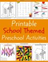 School Preschool Theme Activities