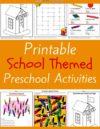 School Preschool Theme Activities