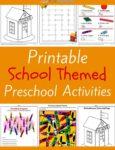 School Themed Printable Activities for Preschool
