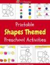 Shapes Preschool Theme Activities