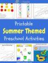 Summer Preschool Theme Activities