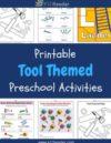 Tools Preschool Theme Activities