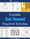 Tool Themed Printable Activities for Preschool