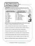 Using Abbreviations With Names of People - Free, Printable Abbreviation Worksheet