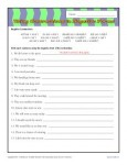 Using Contractions in Negative Forms - Free, Printable Worksheet Lesson Activity