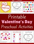Valentine's Day Themed Printable Activities for Preschool