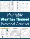 Weather Preschool Theme Activities