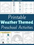 Weather Themed Printable Activities for Preschool