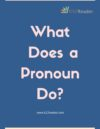 What Does a Pronoun Do?