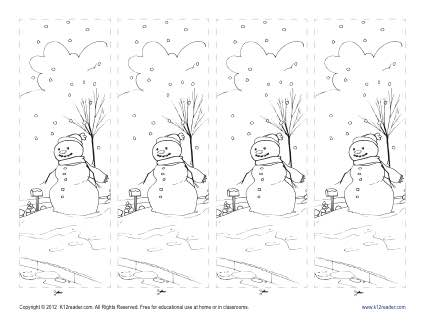 Printable Winter Season Bookmark