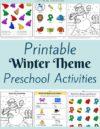 Winter Preschool Theme Activities