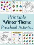 Winter Themed Printable Activities for Preschool