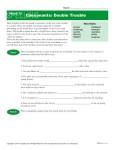 High School Spelling Words Worksheets – Week 13 – Consonants: Double Trouble