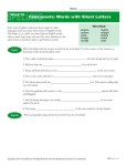 High School Spelling Words Worksheets - Week 26 - Consonants with Silent Letters
