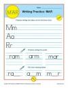 Writing Practice: MAR
