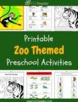 Zoo Themed Printable Activities for Preschool