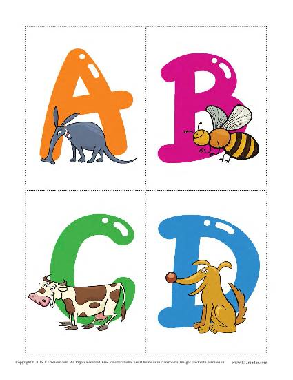 Animal Alphabet Flashcards Vocabulary Worksheets