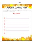 Autumn Acrostic Poem