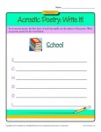 Poetry Worksheet Activity - Write an Acrostic Poem