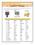 Printable Worksheet on Action Verbs!