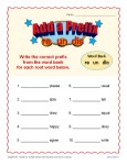 Prefix Worksheet Activity - Add A Prefix