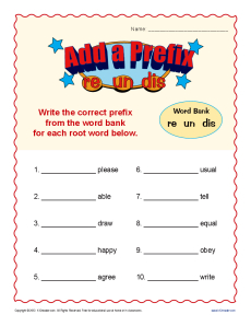 Englishlinx.com | Prefixes Worksheets