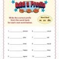Prefix Worksheets
