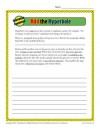 Add The Hyperbole Worksheet Activity