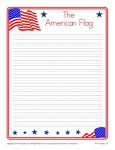 American Flag Writing Paper for Kids