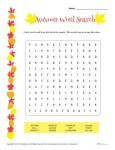 Autumn Word Search Activity
