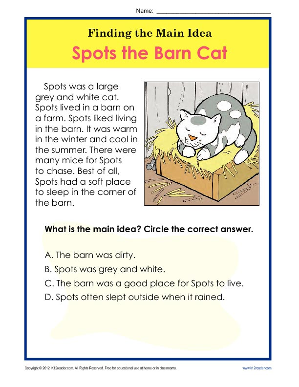 Main Idea And Details Worksheets 2Nd Grade Worksheets for all ...