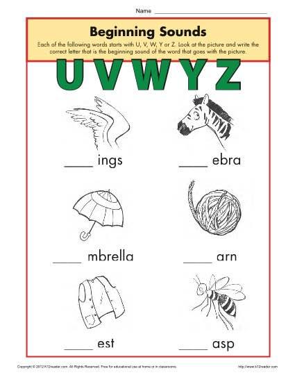 230 x 298 31 kb jpeg first grade beginning sounds worksheet